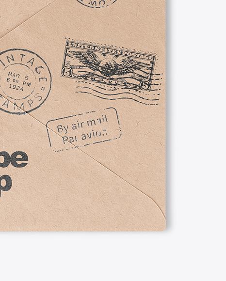 Opened Kraft Paper Envelope Mockup