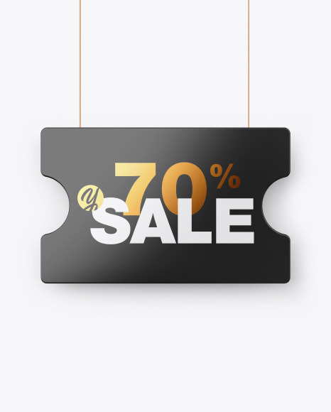 Download Glossy Discount Sign PSD Mockup