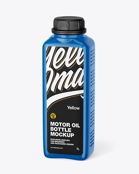 Glossy Motor Oil Bottle Mockup
