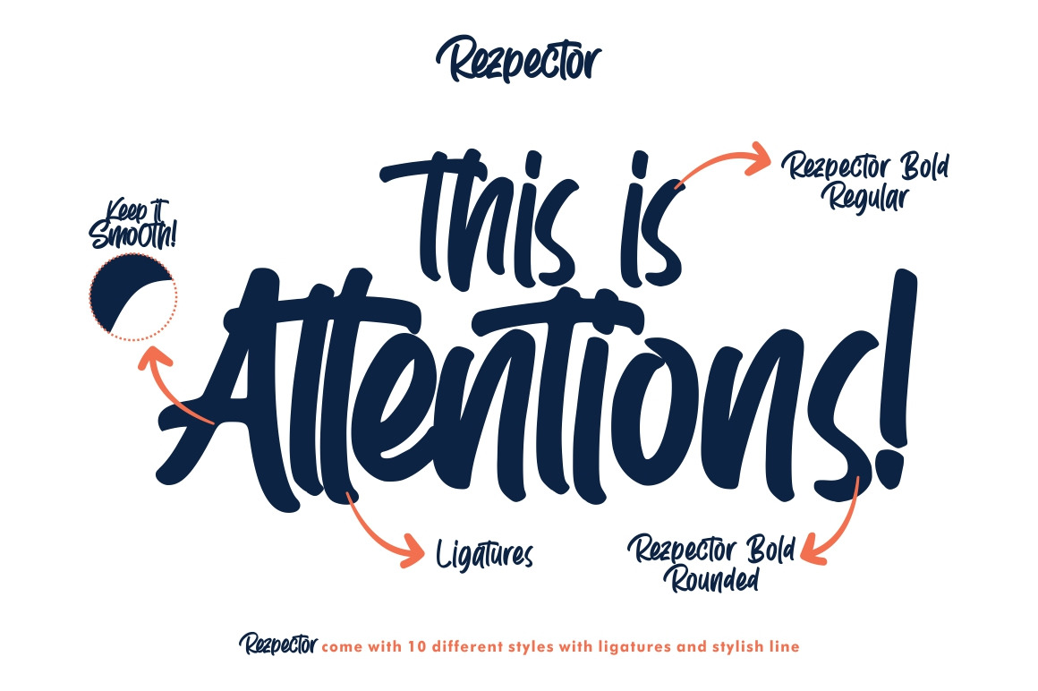 Rezpector || Stylish Display Font