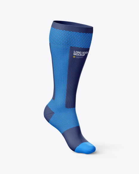 Download Compression Long Sock PSD Mockup