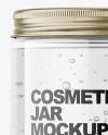 Gel Jar with Metallic Cap Mockup