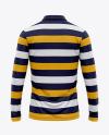 Men's Long Sleeve Polo Shirt - Back View