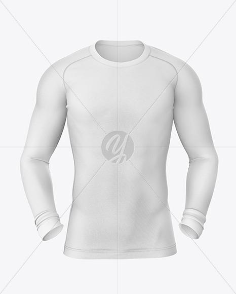 Long Sleeve Compression T-Shirt Mockup