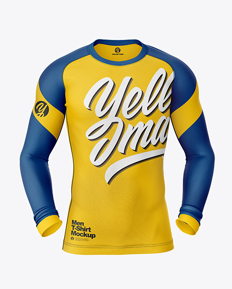 Download Long Sleeve Compression T Shirt Mockup In Apparel Mockups On Yellow Images Object Mockups PSD Mockup Templates