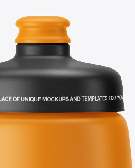 Matte Plastic Sport Bottle Mockup