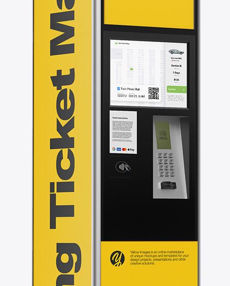 Ticket Machine Mockup