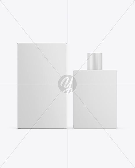 Paper Box & Perfume Bottle Mockup