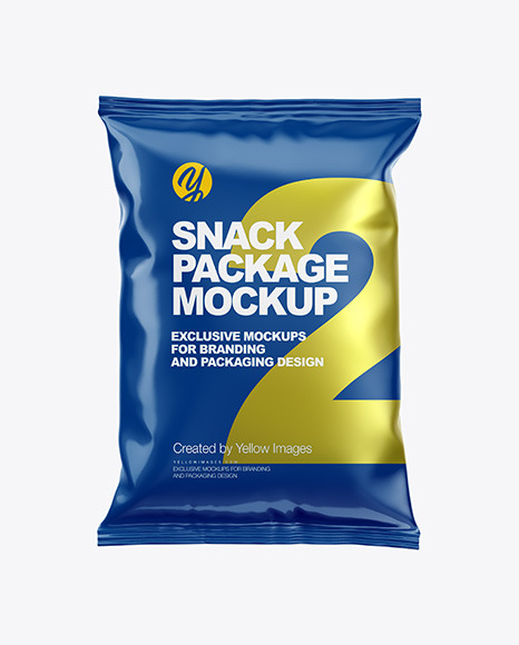 Download Glossy Snack Package PSD Mockup
