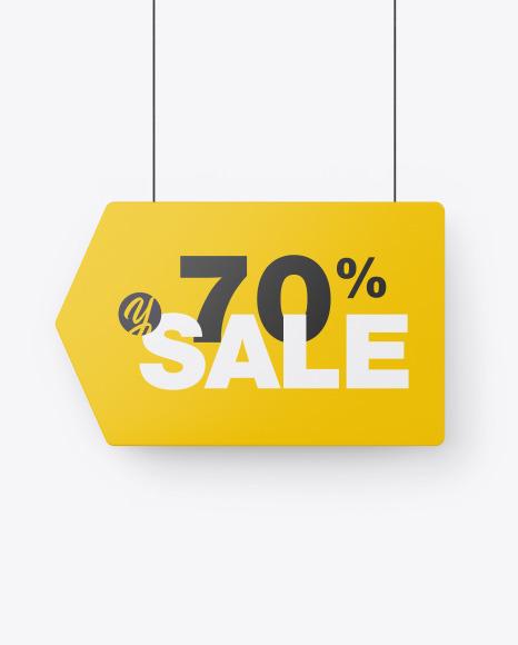 Download Matte Discount Sign PSD Mockup