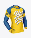 Long Sleeve Compression T-Shirt Mockup – Front Half Side View