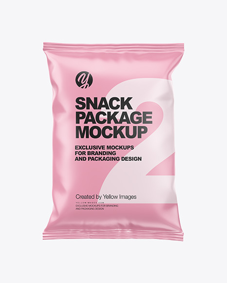 Download Matte Snack Package PSD Mockup