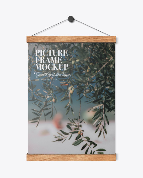 Download Wooden Picture Frame PSD Mockup
