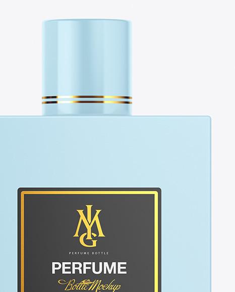 Kraft Box & Perfume Bottle Mockup