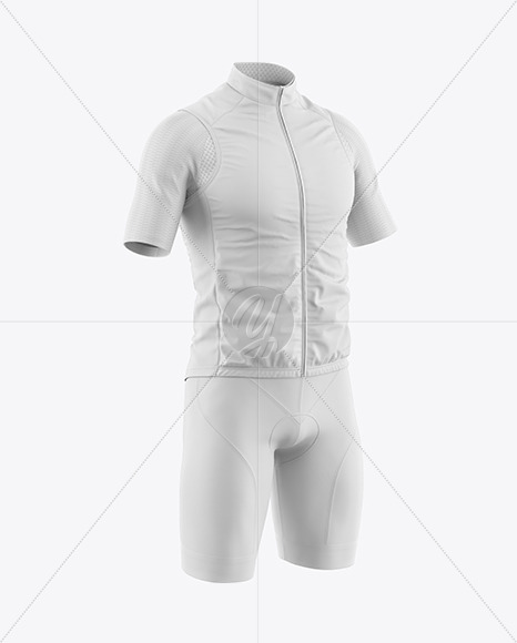 Men's Cycling Suit Mockup