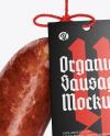 Dark Krakowska Sausage Mockup