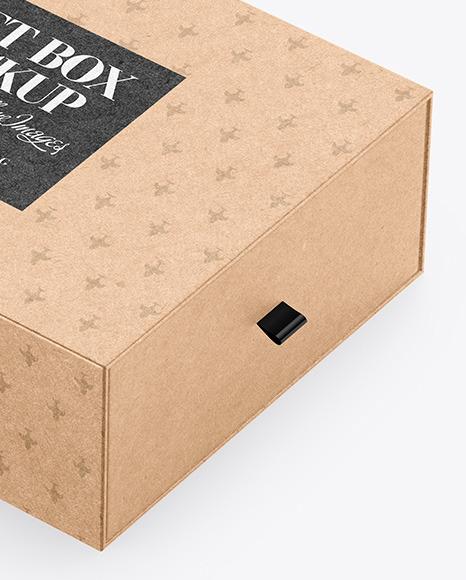 Gift Kraft Box Mockup