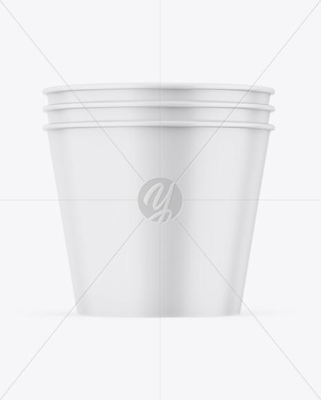 Download Three Matte Buckets Mockup Free Mockups