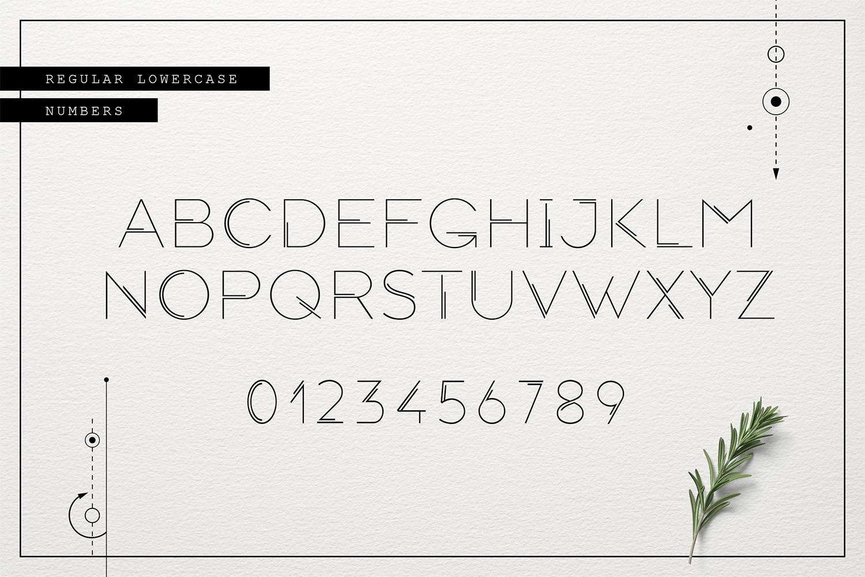Totem – mystical geometric font