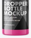 1 Oz Plastic Dropper Bottle Mockup