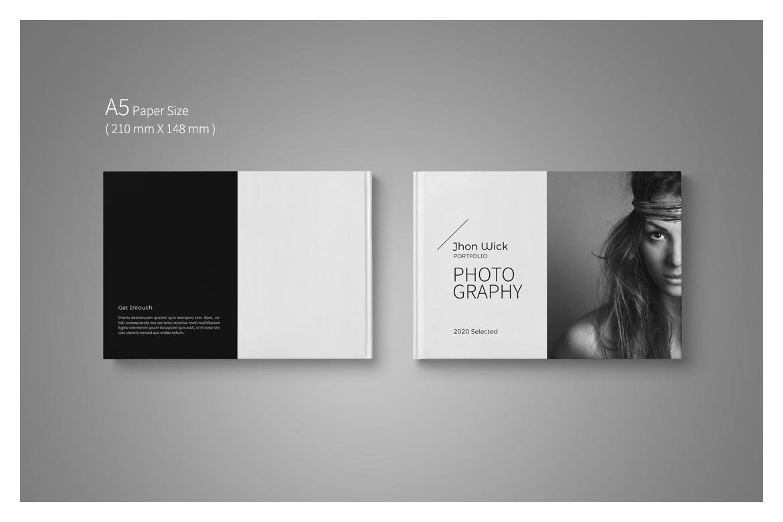A5 Photography Portfolio Template