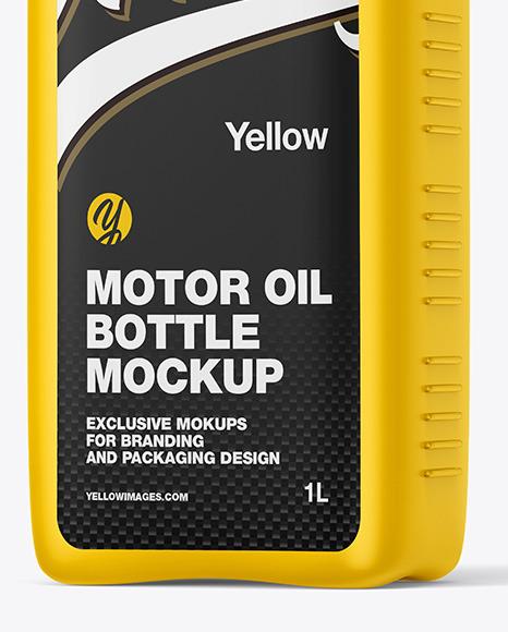 Matte Motor Oil Bottle Mockup