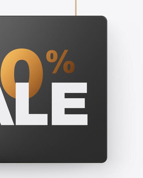 Matte Discount Sign Mockup