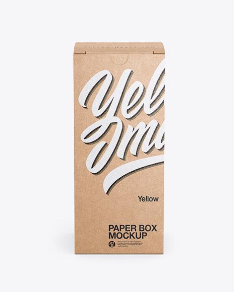 Download Kraft Paper Box Mockup Free PSD - Free PSD Mockup Templates