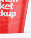 Glossy Bucket With Chicken Mockup