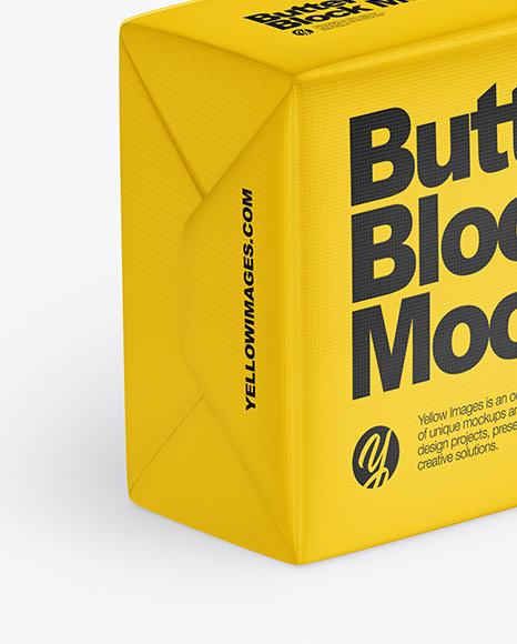 Matte Butter Block Mockup