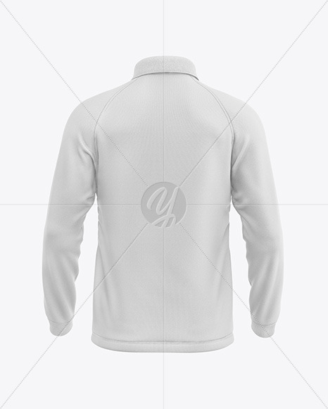 Men's Long Sleeve Polo Raglan Mockup