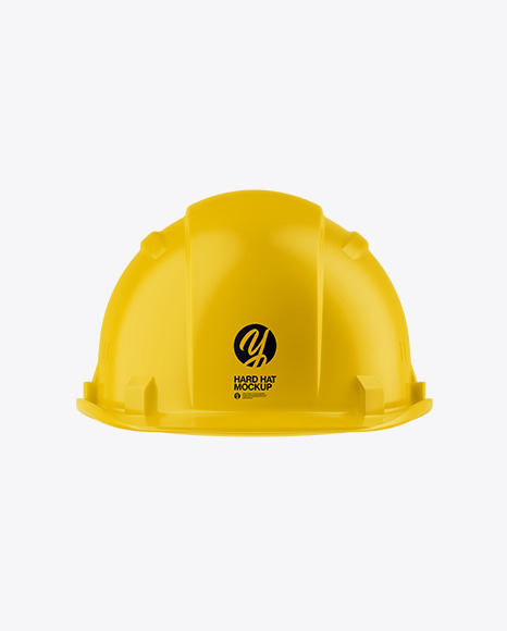 Matte Hard Hat Mockup - Front View