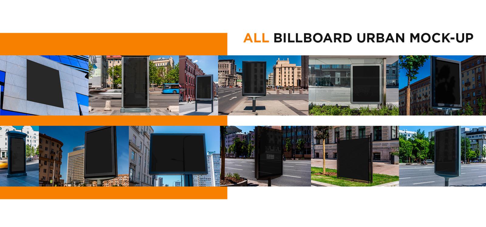 Billboards Urban Mock-Up