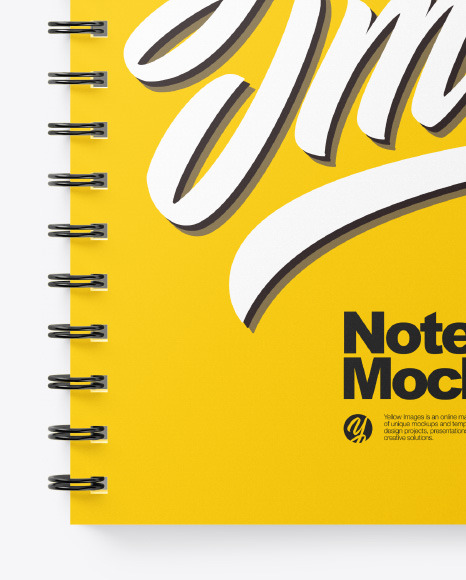 Spiral A4 Notebook Mockup – Top View