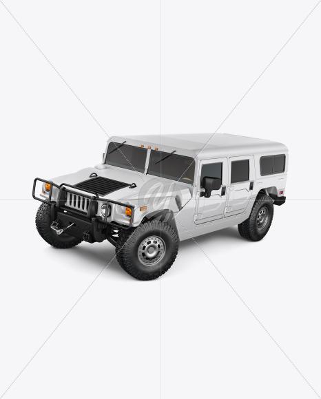 Off-Road SUV Mockup - Half Side View (High-Angle Shot) - Yellowimages Mockups