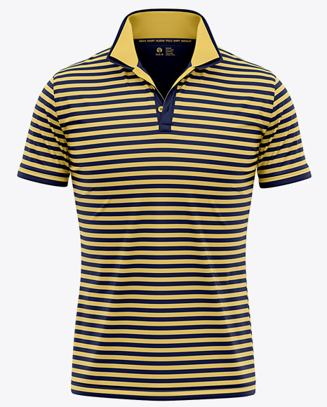 Italian / Raised Collar Short Sleeve Polo Shirt - Front View