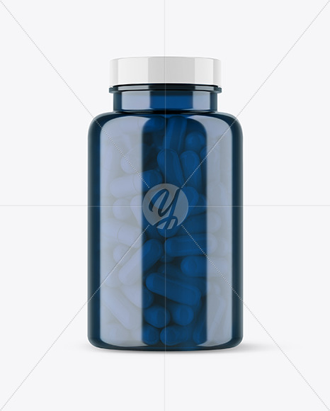 Download Colored Pills Bottle Mockup In Jar Mockups On Yellow Images Object Mockups PSD Mockup Templates