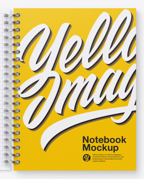 Opened Paper Notebook Mockup