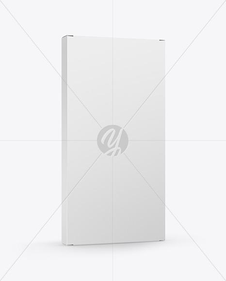 Download Glossy Chocolate Box W/ Window Mockup - Half Side View Free Mockups