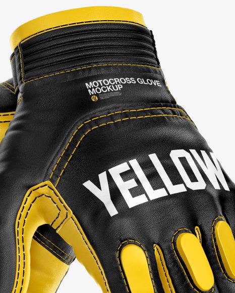 Motocross Gloves Mockup