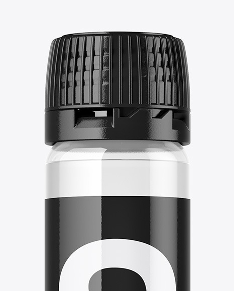 Clear Sport Nutrition Bottle Mockup