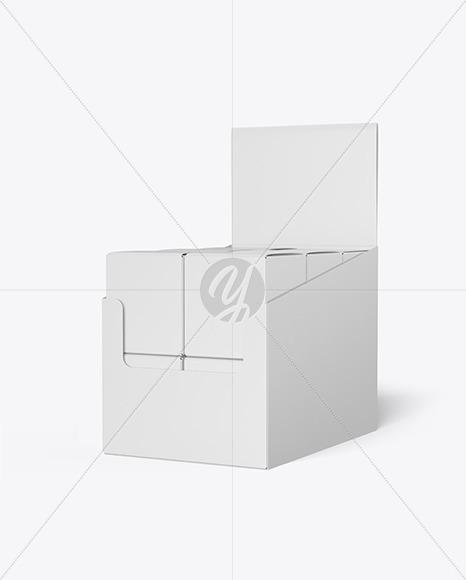 Display Box with Boxes Mockup