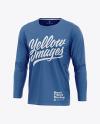 Men's Long Sleeve T-Shirt Mockup
