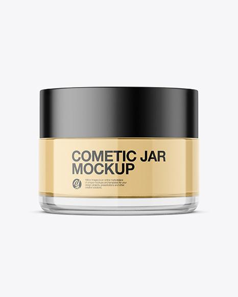 Cosmetic Jar Mockup