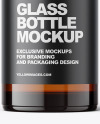 pharmacy Amber Glass Bottle Mockup