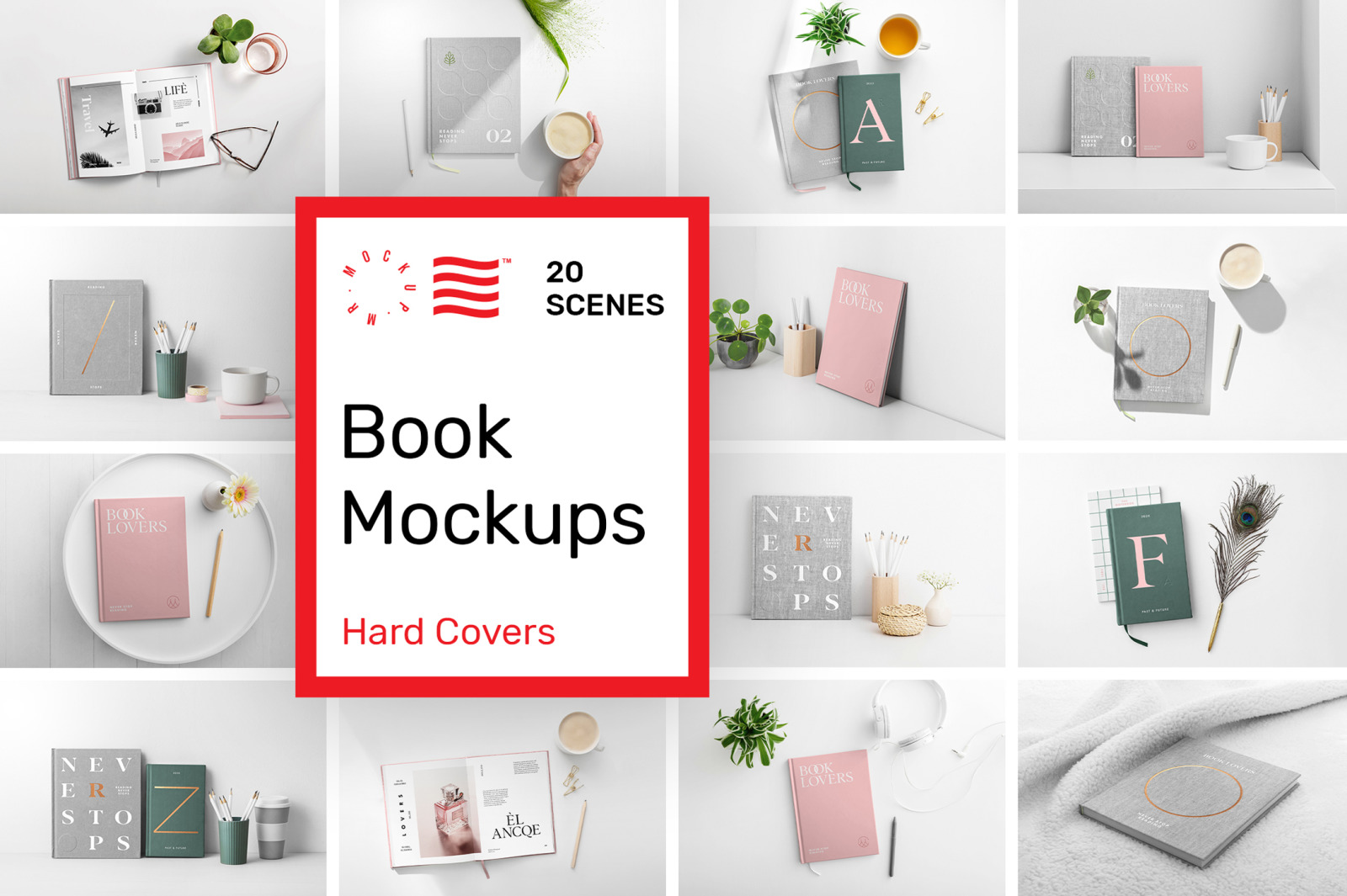 Download Book Cover Mockups Hardcover In Product Mockups On Yellow Images Creative Store PSD Mockup Templates