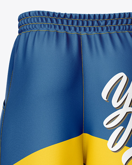Download Compression Shorts Mockup Back View In Apparel Mockups On Yellow Images Object Mockups