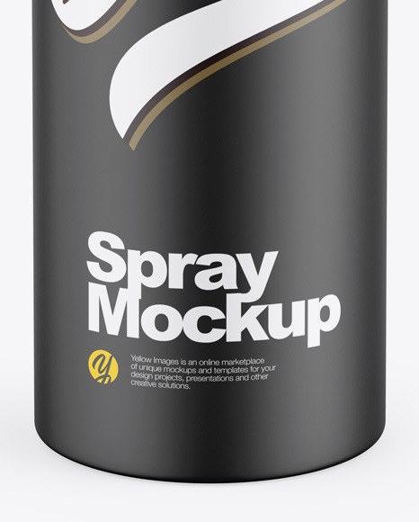 Matte Aerosol Spray Bottle Mockup