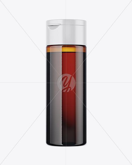 Amber Pet Bottle Mockup