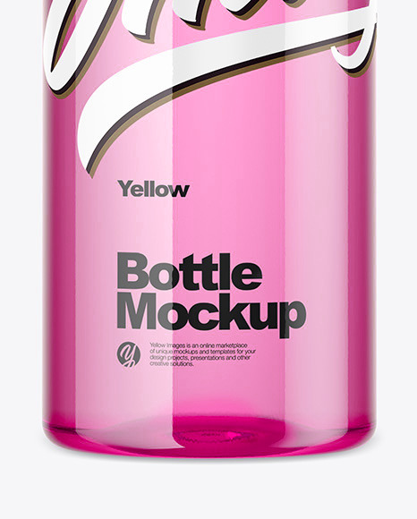 Color Pet Bottle Mockup